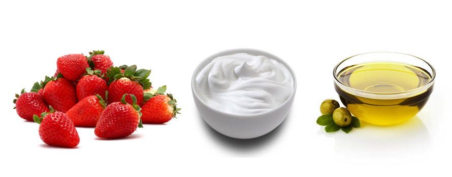 strawberry-curd-and-olive-oil-hair-mask-1