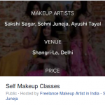 Makeup Masterclass with Sohni Juneja